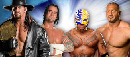 The Undertaker vs Rey Mysterio vs CM Punk vs Batista